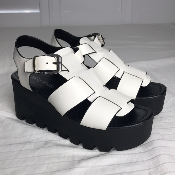 cathy jean white platform sneakers